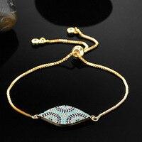 La turquie Royal Conception Turc Accessoires Marque de hamsa mal yeux Zircon Pulseiras & Bracelet Hommes bracelets Amour Chaîne Bracelet En Or