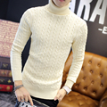 2016 New Fashion Men Knitted Sweater Winter Autumn Pullover Mens Casual Solid Sweaters Turtleneck Pull Homme
