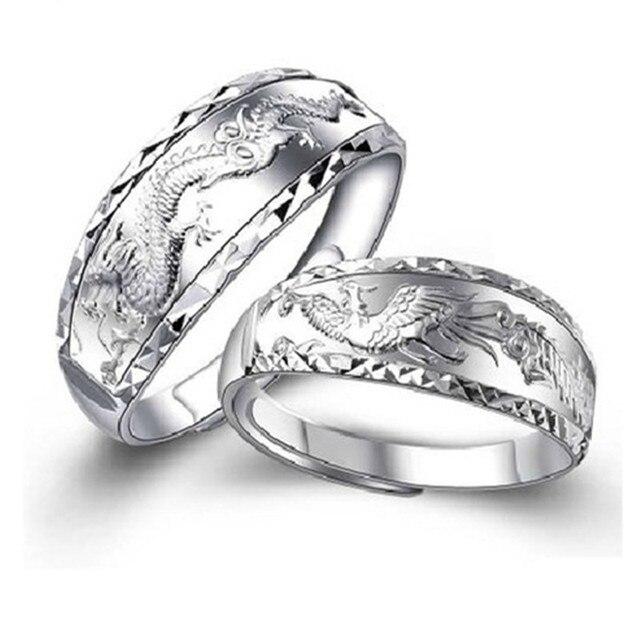 DRAGONPHOENIX WEDDING RINGS 2PCSET SFREE SHIPPING USA WHOLESALES