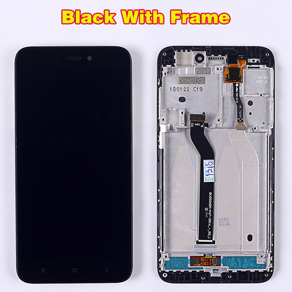 HTB1YBviUbrpK1RjSZTEq6AWAVXaN 100% Tested LCD Display For Xiaomi Redmi 5A 5.0 inch Digitizer Sensor Glass Assembly touch screen frame with Free Tempered Glass