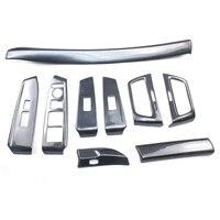 9 шт./компл. автомобильная лента для приборной панели боковая вентиляционная рама, Окно лифт переключатель крышки наклейки для Honda Accord 8th