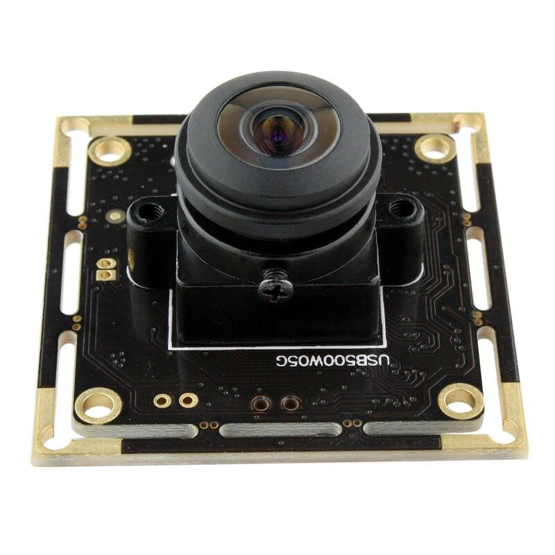 5MP 2592*1944 high defination Aptina MI5100 CMOS Super Wide angle 180degree fisheye 1080P 30fps UVC USB Camera Module Android