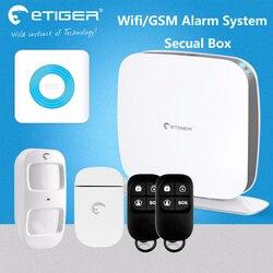 100 linii bezprzewodowych 10 krajów strefy Euro języków gsm i bezpieczeństwa wifi zestaw alarmowy etiger Secual box ESB WS1A|box box|box wifibox gsm -