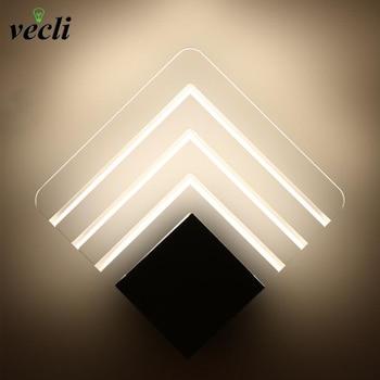 90-260v Acrylic Led Wall Lamp Aluminum Wall Light Lamps Luminarias Wall Lights For Home Stair Light Led Bathroom lamp 5w цена 2017