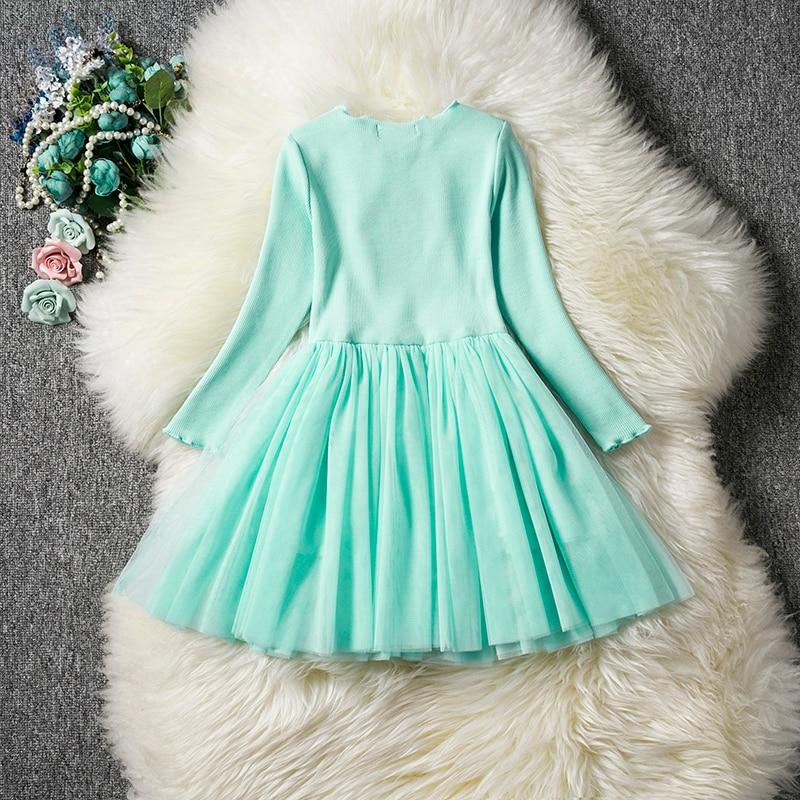 HTB1YBwVaNv1gK0jSZFFq6z0sXXaB Kids Long Sleeve Lace Drsses for Girls Party Dress Star Printed Birthday Tutu Dresses Children Casual Wear 3 6 8 Years Vestidos