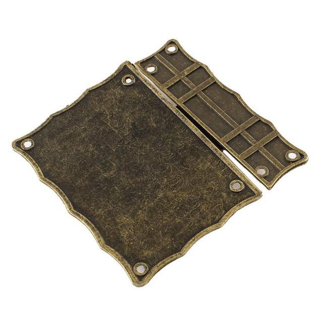 1pcs 84mmx84mm Retro Style Jewelry Box Hasp Latch Lock Bronzein