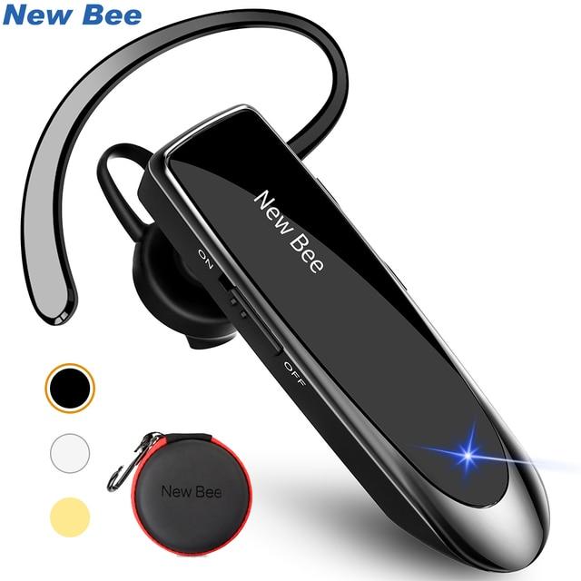 New Bee zestaw słuchawkowy Bluetooth Bluetooth słuchawki zestaw głośnomówiący słuchawki Mini bezprzewodowe słuchawki z mikrofonem douszne słuchawka dla iPhone xiaomi