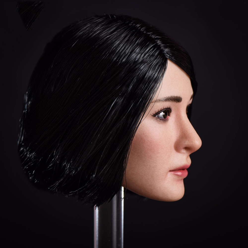 16 Ot001 Custom Yang Mi Head Carved Asia Girl Head Model With Long