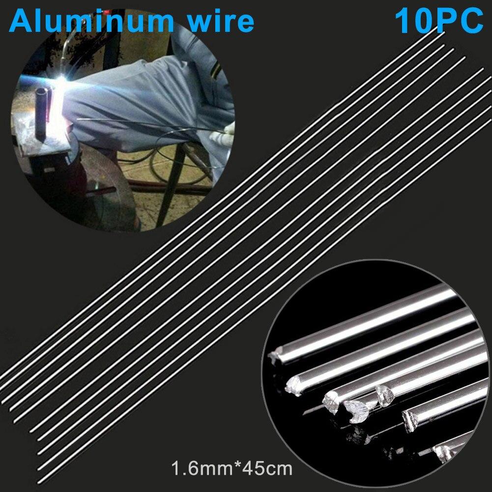 10 шт. легкие Серебристые алюминиевые сварочные стержни 1,6 мм x 45 см низкая температура не требуется припой порошок