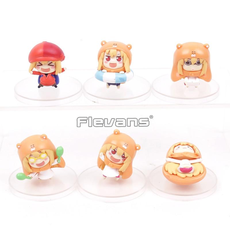 Anime Small buried Sankaku Head Himouto! Umaru-chan Umaru Doma PVC Figures Dolls Toys 6pcs/set anime pu short yellow purse button wallet printed with doma umaru of himouto umaru chan