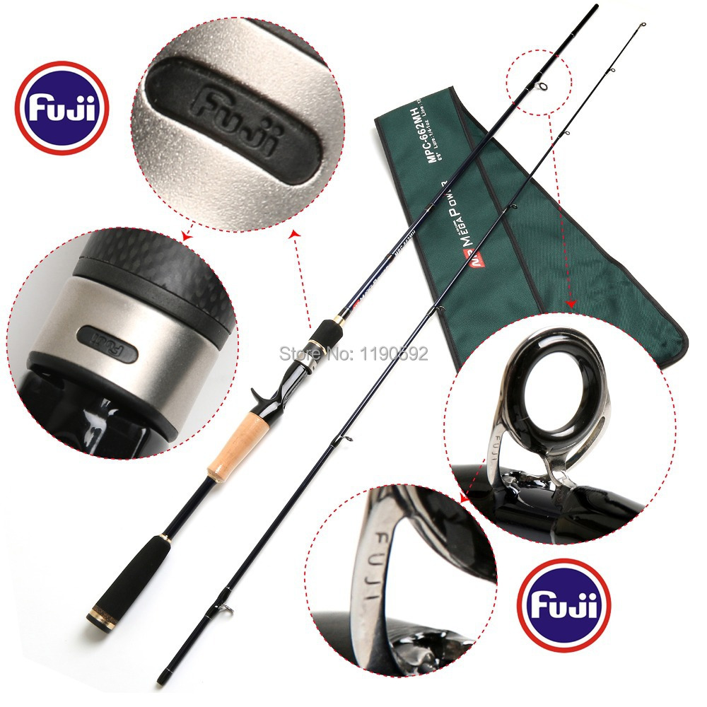 Free Shipping!! MPC 662 MH 2pcs/lot 24T/IM6 carbon fiber casting fishing rod MH fast action megapower casting rod