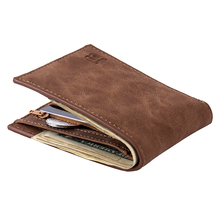 Multifuncti Leather Short Men Money Wallet Thin ID Credit Ca