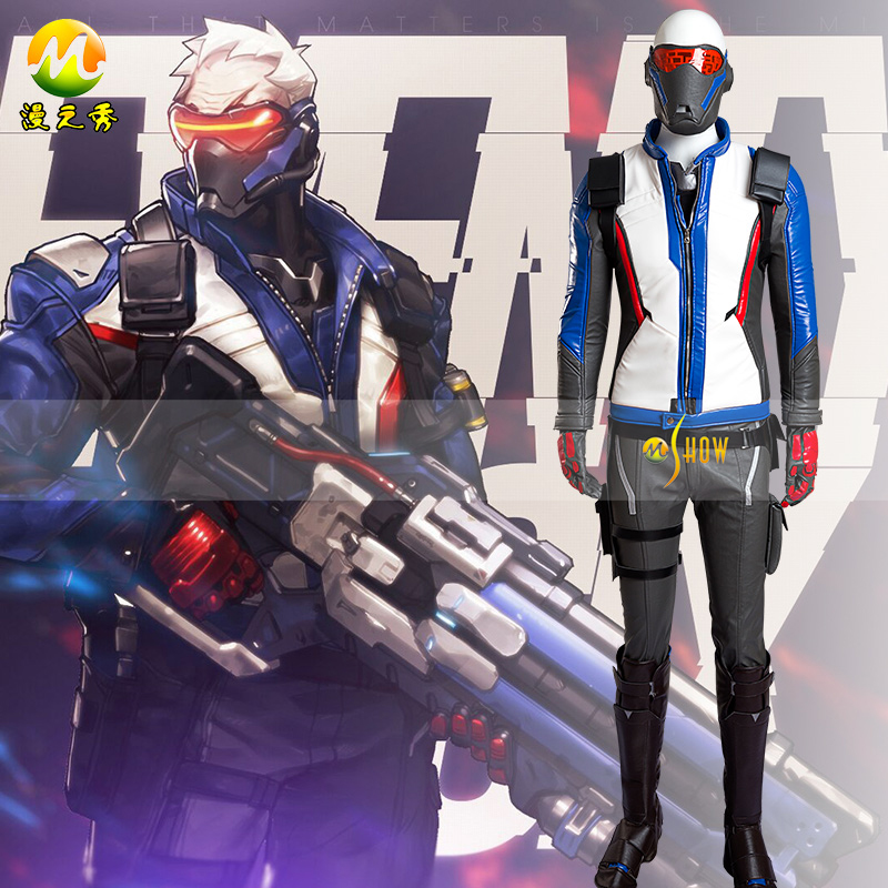 OW Soldier: 76 Uniforms Cosplay Costume Free Shipping
