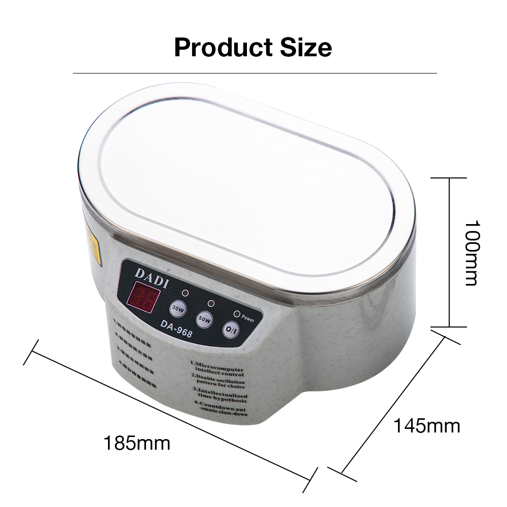 600 ml Ultrasonic Cleaner Machine With Display For Jewelry Glasses And Sunglasses 1
