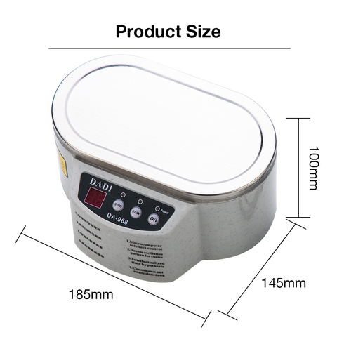 600 ml Ultrasonic Cleaner Jewelry Glasses Circuit Board Cleaning Machine Intelligent Control ultrasonic cleaning ultrasonic bath Lahore