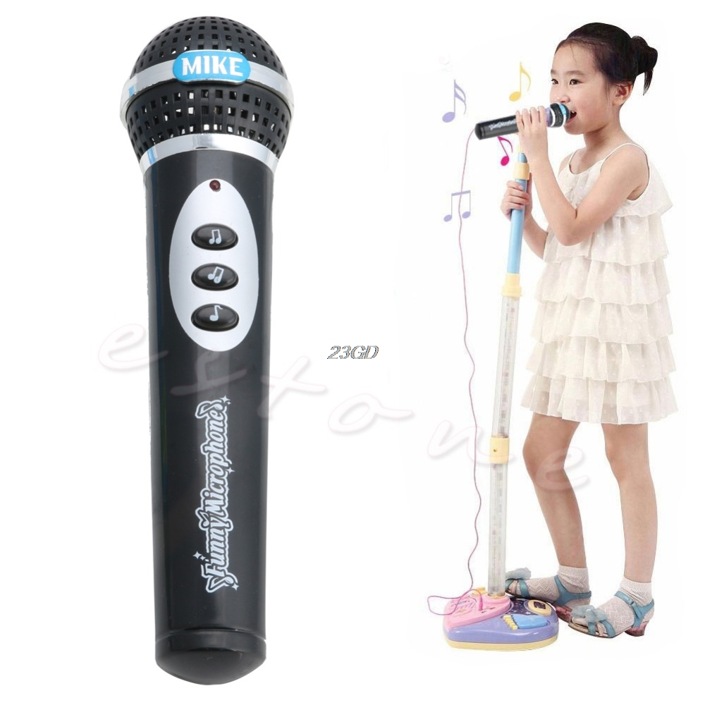 2017  Child Girls Boys Microphone Mic Karaoke Singing Kids Funny Music Toy Gifts  APR22_30