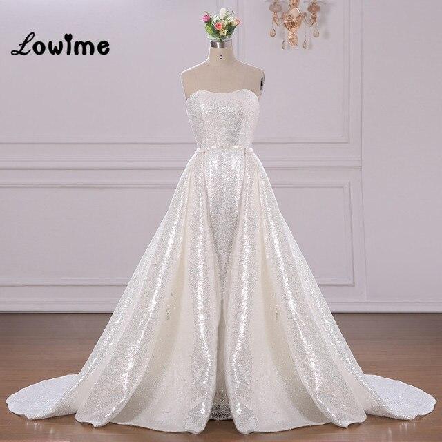 2beb4651ccc Abendkleider White Sequin Long Prom Dresses Stunning Strapless Party Dress  2018 Vestido De Noiva Custom Made Women Evening Gowns