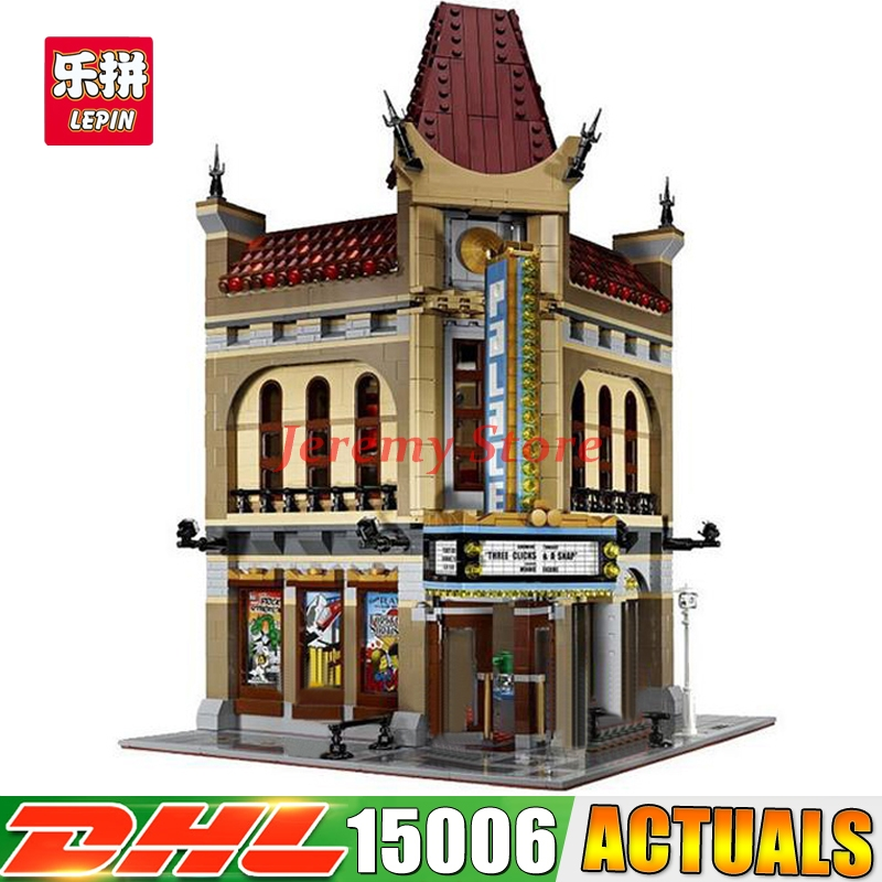 2017 IN STOCK DHL LEPIN 15006 2354pcs Palace Cinema Model Building Blocks Funny Educational Brick Toys Compatible 10232 2016 new lepin 15006 2354pcs creator palace cinema model building blocks set bricks toys compatible 10232 brickgift