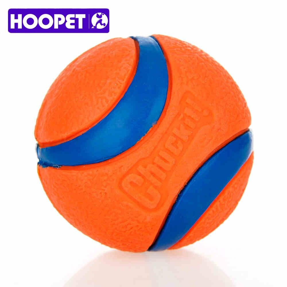 HOOPET Pet Dog Rubber Pinball bolas y una bola de embalaje naranja caucho resistencia A morder Molars juguetes Pet Supplies
