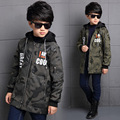 Children 's autumn and winter children' s autumn and winter 2016 new Korean version of the hooded thick windbreaker