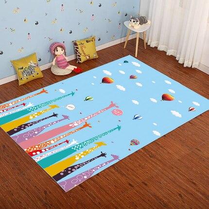 Salon chambre bande dessinée tapis chambre d'enfants 3D tapis princesse chambre fille tapis Yoga ramper couverture chevet tapis Machine