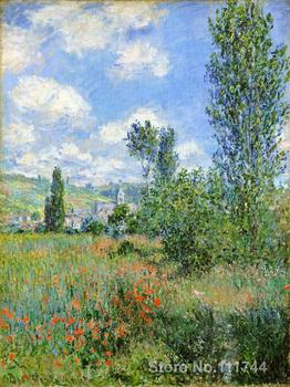 bathroom art Lane in the Poppy Fields Ile Saint Martin by Claude Monet paintings Home Decor Hand painted High quality