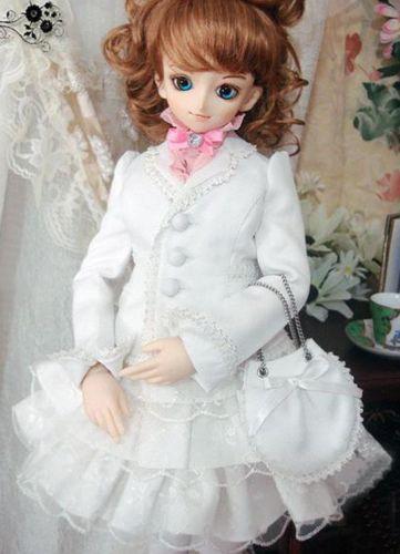 [wamami] 386# White Clothes/Dress/Outfit 1/3 SD DOD BJD Dollfie [wamami] 05 white clothes shirt blouse 1 3 sd dod bjd dollfie