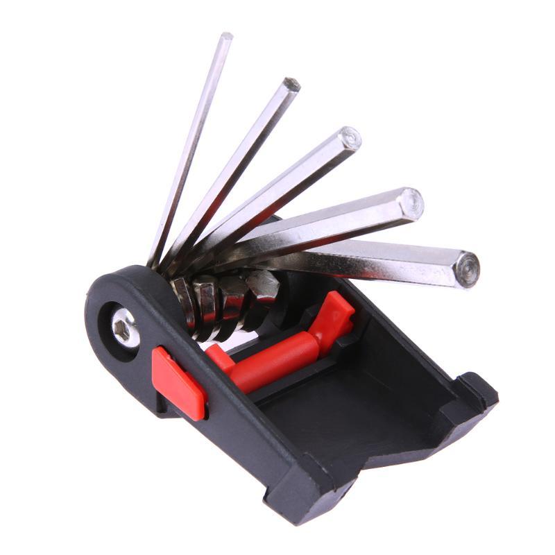 New Mini Repair Pocket Folding Tool 11 in 1 Bicycle Moutain Road Bike Tool Set Cycling Multi Repair Tools Kit Wrench 300g