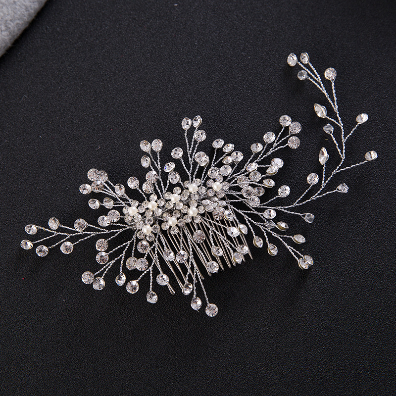 Fashion Hair Comb Wedding Hair Accessories Floral Headdress Romantic Handmade Crystal Wedding Bride Hair Jewelry Accessories free shipping retail hair comb sinamay fascinator hats feather hair accessories wedding headwear 17 color are avaliable rmsf101