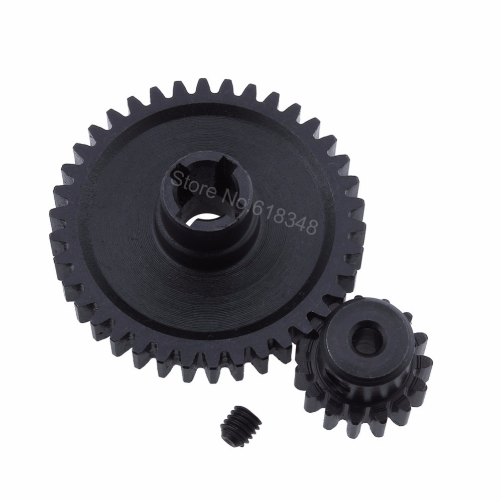 Steel Metal Diff Main Gear 38t Motor Gear 17t For Rc 1