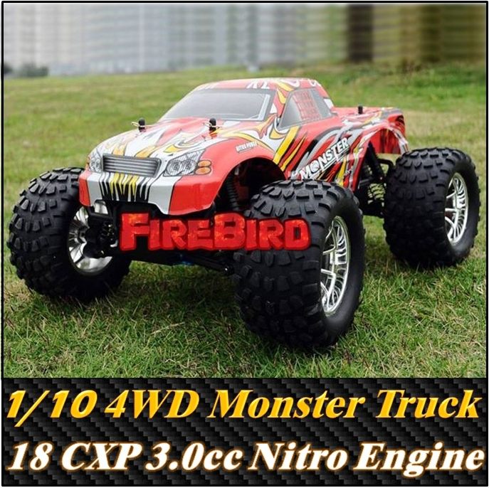 HSP BISON 1/10 Scale 3.0cc Nitro Engine Power 4WD off-Road Monster truck , High speed Rc Car for Hobby image