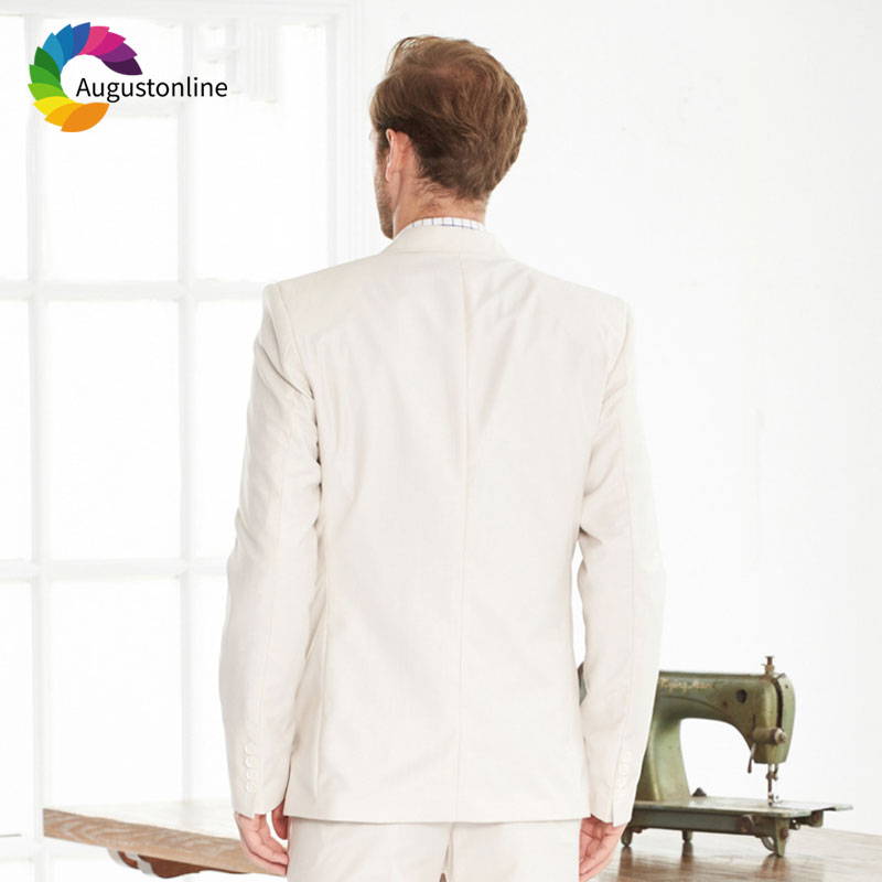 Beige Ivory Men Suits Wedding Costume Homme Best Man Blazer Slim Fit Groom Tuxedo Jacket Pants 2 Piece Latest Coat Pant Designs in Suits from Men 39 s Clothing