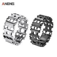 Bracelet 304 Stainless Steel Walker Wearable Multifunctional Tools Punk Outdoor Screwdriver Bracelets Opener Kits Dropshipping