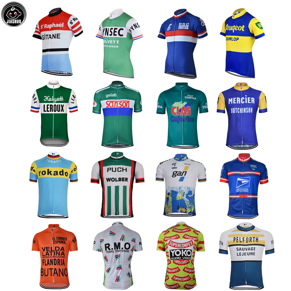 Retro Classical NEW Mountain Road RACE Team Bike Cycling Jersey Tops Breathable Customized Jiashuo