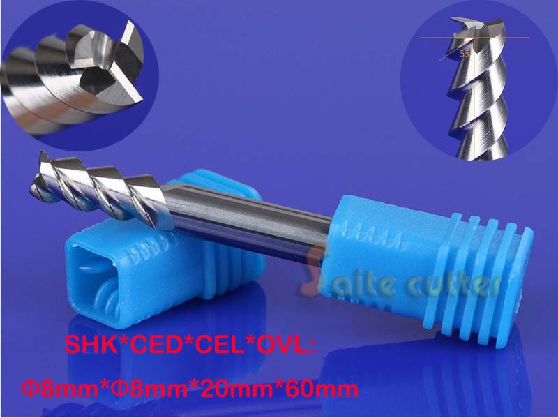 2pcs 8mm Three Flutes Carbide Cutters/ End Mill Tools/Cutting Bits/CNC Router Tool Bits/Engraving Tools/Cutting MDF/Wood/PVC 10 60 90 120 a wood cnc router bits cutting tools for cnc machine
