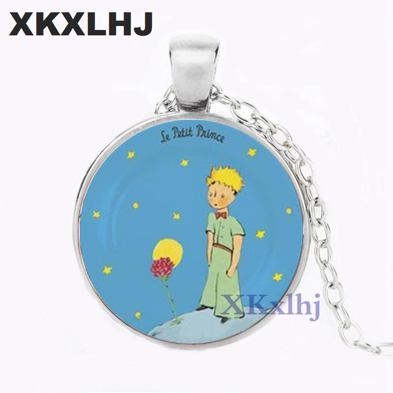 XKXLHJ New The Little Prince Pendant Jewelry Gifts For Children Glass Dome Necklace