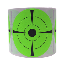 Target Stickers Reactive Glow Florescent Paper Target For Hunting Archery Bullseye Target For Practice Shooting Skills