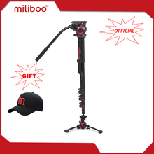 "miliboo MTT705AS Aluminum Portable Fluid Head Camera Monopod for Camcorder /DSLR Stand Professional Video Tripod 73""Max Height(China)"