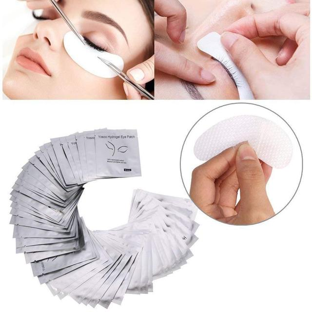 10/20/50 Pairs Eyelash Pad Gel Patch Grafting Eyelashes Under Eye Patches For Eyelash Extension Paper Sticker Wraps Makeup Tools 3