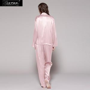Image 3 - LilySilk 100 משי פיג מה סט פיג פיג feminino גבירותיי הלבשת נשים מלא אורך 22 momme תות משלוח חינם