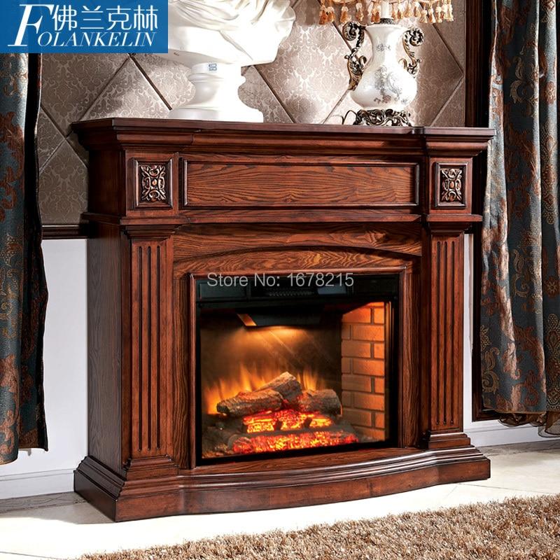 Moda chimenea de madera s lida roble americano calidad for Chimeneas de madera