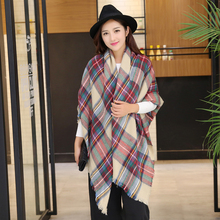 Women Winter Scarf Warm luxury Brand Long Scarf Women Pashmina Foulard Plaid Cashmere Blanket Scarf Shawls Echarpe Hiver Femme
