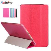 Case For IPad Mini 4 Silk Three Fold Ultra Slim PU Leather Case Flip Stand Transparent
