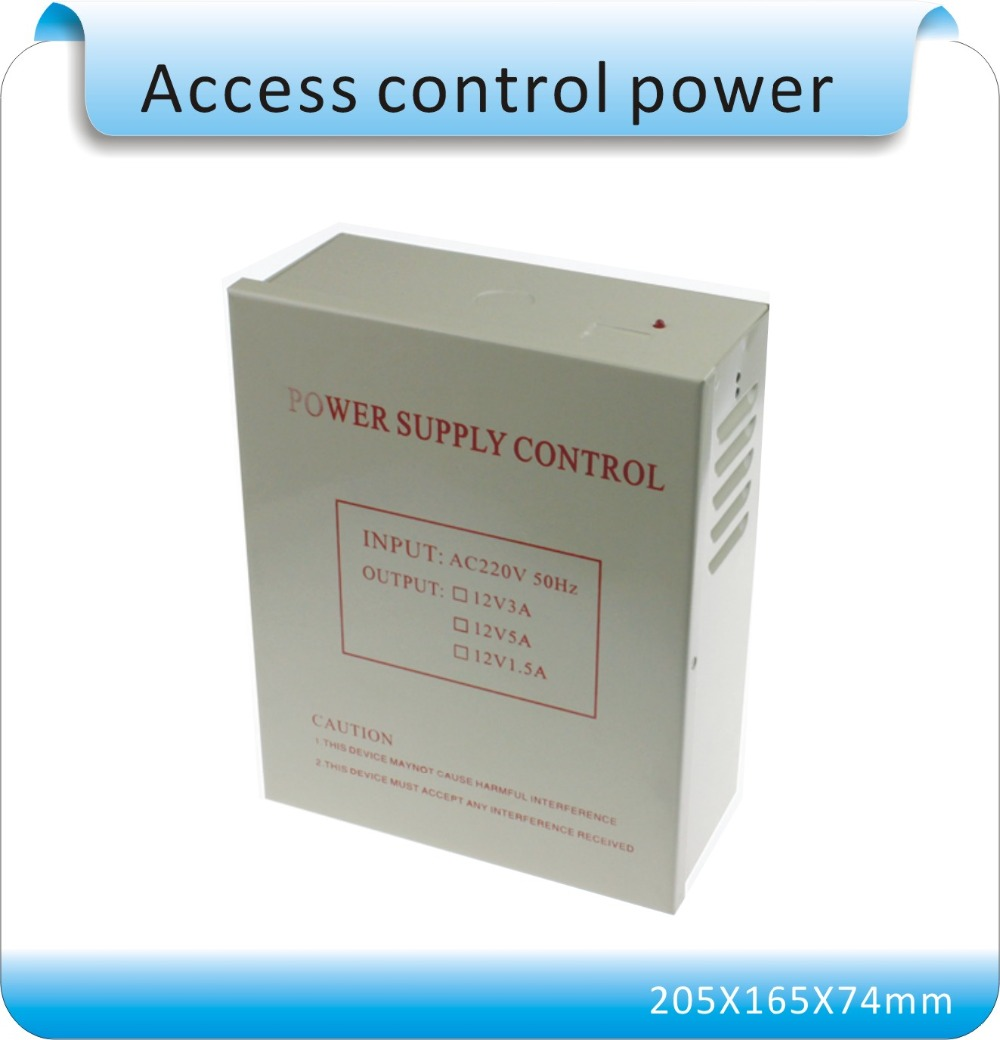 DC 12V 5A  New Door Access Control system Switch Power Supply  input AC 110~240V 4pcs 12v 1a cctv system power dc switch power supply adapter for cctv system