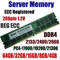 Память сервера 64GB DDR4 PC4-17000 2133 MHz ECC зарегистрированная 32GB PC4-19200 2400 MHz ECC Reg 16GB PC4 21300 2666 MHz 8GB 288pin 1 2