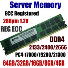 Server Memory 64GB DDR4 PC4-17000 2133 MHz ECC Registered 32GB PC4-19200 2400 MHz ECC Reg 16GB PC4 21300 2666 MHz 8GB 288pin 1.2 lifetime warranty for samsung 4gb 8gb 12gb 16gb 32gb 1333mhz pc3 10600r 4g ecc reg server memory fb dimm ram