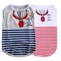 New Summer Pet Dog Vest Shirts Clothing Cotton Puppy Pet Dog Vest Clothes Red Navy Striped Vests XS-XL T-shirt