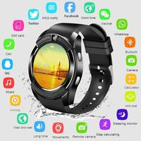 New Smart Watch Luxury V8 Men Bluetooth Sport Watches Women Ladies Smartwatch Camera Sim Card Slot Android Phone automatic watch
