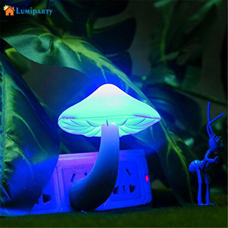 lumiparty night light lava lamps led small portable mushroom lamp bedside wall blue light in. Black Bedroom Furniture Sets. Home Design Ideas