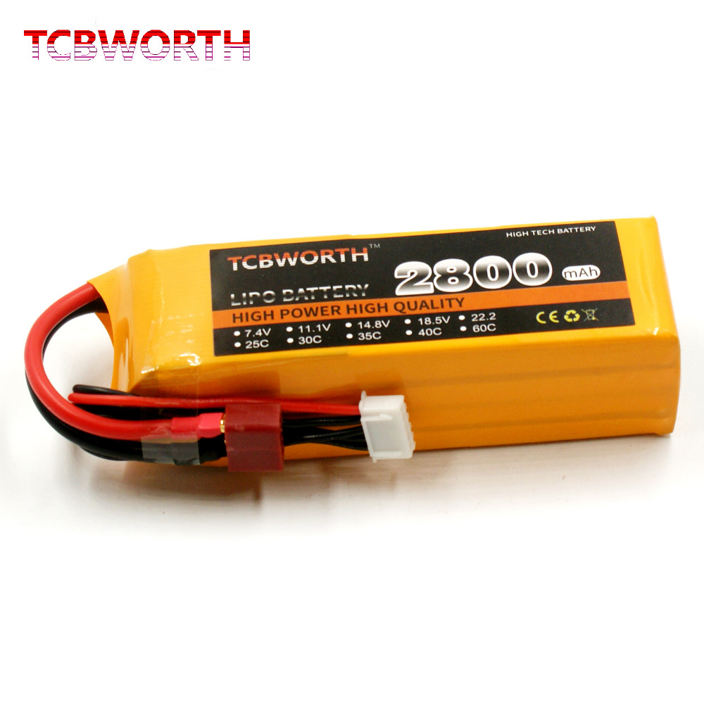 14.8V RC Drone <font><b>LiPo</b></font> battery <font><b>4S</b></font> 14.8V <font><b>2800mAh</b></font> 25C For RC Airplane Car Boat Rechargeable RC Li-Po Battery <font><b>4S</b></font> Helicopter AKKU image